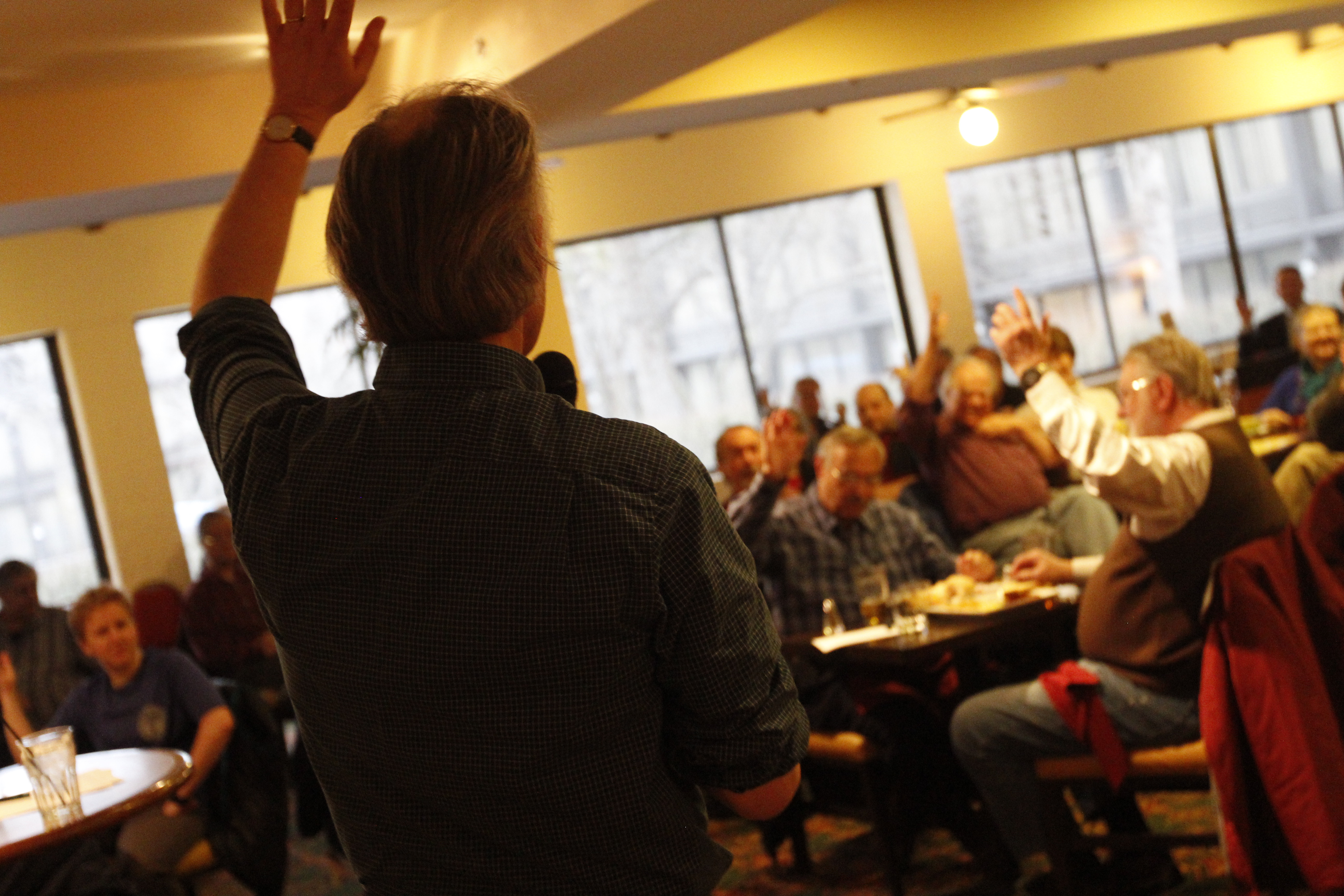 Raise your hand if you love Science Cafe NH Nashua